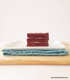 Jaffa Slice 1 cup desicatted coconut 10 medjool dates, seeds removed cup roasted almond butter 4 tablespoon cacao or cocoa zest of two orange zest (approximately 3 tablespoons) teaspoon concentrated natural vanilla extract pinch of salt Paleo Sweets, Paleo Dessert, No Bake Slices, Paleo Bars, Simply Recipes, Free Recipes, Roasted Almonds, No Sugar Foods, Raw Food Recipes