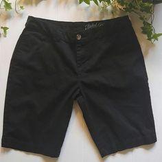 "Black Bermuda Shorts Black Bermuda Shorts ------------------------------------- *4 pockets *98% Cotton, 2% Spandex *Inseam 10"" *NWOT Faded Glory Shorts Bermudas"