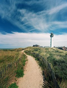 J.C.J. van Speijk Lighthouse is on the North Sea coast near Egmond aan Zee, in the municipality of Bergen, North Holland, in the Netherlands