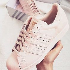 Shoe game strong Love these #Adidas Superstars in pink Perfect addition to your summer wardrobe ✨ -M&J