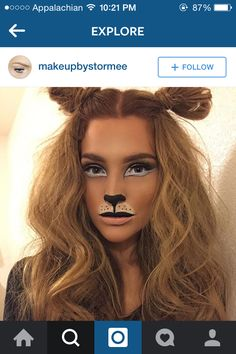 Lion Halloween makeup                                                       …