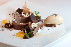 Food and Chef Photos: Pastry Chef Mellisa Root and Wine Director Paul Mekis of Madera - Mountain View, CA