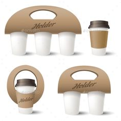 Buy Coffee Cup Holder by vectortatu on GraphicRiver. Takeaway coffee box template design, vector paper carrying holder or container isolated on white b. Cafe Shop Design, Coffee Shop Interior Design, Coffee Cup Design, Small Cafe Design, Coffee Box, Coffee Truck, Coffee Cafe, Coffee Holder, Coffee To Go