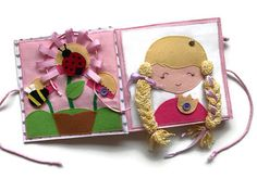 THE GIRLS' BOOK quiet book activity book busy book girl