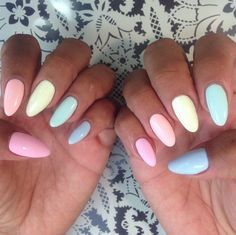 Pastel Stiletto Nails