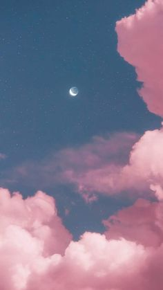 Two moon in the pink sky by matialonsor Mond zwei im rosa Himmel durch matialonsor mir Wallpaper Pastel, Cloud Wallpaper, Aesthetic Pastel Wallpaper, Iphone Background Wallpaper, Galaxy Wallpaper, Cellphone Wallpaper, Nature Wallpaper, Aesthetic Wallpapers, Trippy Wallpaper