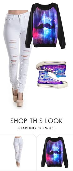 """""""Untitled #91"""" by lovepeaceandnetflex ❤ liked on Polyvore featuring Converse"""