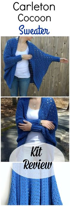 Carleton Cocoon Sweater Evaluate by Croyden Crochet Crochet Cocoon, Gilet Crochet, Crochet Jacket, Crochet Cardigan, Crochet Scarves, Crochet Shawl, Diy Crochet, Crochet Crafts, Crochet Clothes