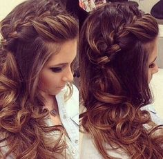 Image via We Heart It https://weheartit.com/entry/148228716/via/7036671 #braids #hair #hairstyles #curlyhair