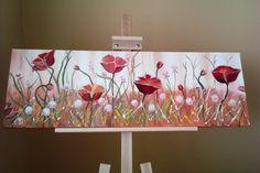 Poppies, oil painting, reproduction