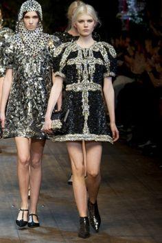 Sfilata Dolce & Gabbana Milano - Collezioni Autunno Inverno 2014-15 - Vogue