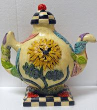 Back of teapot clock Dandelion
