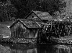 Mabry Mill - Old historic watermill which was built in 1905, using water from nearby streams to power it.