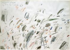 Cy Twombly, Untitled (Bolsena), 1969, pencil, wax crayon, and colored pencil, 28 3/4 × 40 1 8 inches (73×102cm) ©Cy Twombly Foundation