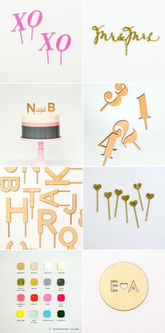Cake toppers from Little Cat Design Co.