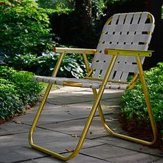 Vintage aluminum lawn chair, gilded with 23k gold leaf -- in Cincinnati, no less