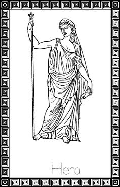 Hera Coloring Pages 41188