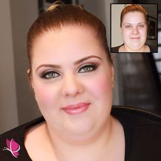 A #beforeandafter preview of this beautiful bride tying the knot in just a few weeks!  #bridalmakeup by Kay of #kayanabeauty #kayanabeautytrends #transformationtuesday #makeover #gorgeouseyes #browsonpoint