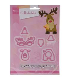Marianne Design Eline's Reindeer Collectables Dies With Stamps
