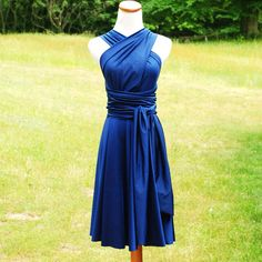 convertible bridesmaid dress blue