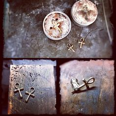 Finishing up an earlier custom request. WIP 14kt gold cast Ankh charms. Filing and tumbling to come.#jasprcraggjewelry #jewerly #jewellery #acreativedc #madeindc #etsyseller #14kgold #ankh #washingtondc #logancircle