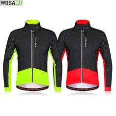 Winter Fleece Thermal Cycling Jacket Long Sleeve Bike Jersey Wind Warm Coat Men