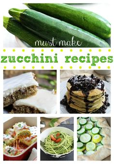 Must Make Zucchini Recipes at http://therecipecritic.com Do you have loads of zucchini?? The best must make zucchini recipes have been rounded up in one spot!