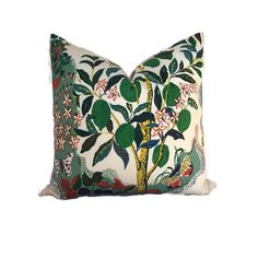 Schumacher Citrus Garden Pillow Cover