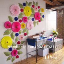 10'' 50ps/lot + Frete Grátis Honeycomb Flor lanterna de papel design de flores Fan dobrável decoração do casamento fãs lanterna Tecido(China (Mainland))