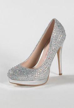 High Heel Sparkle Pump with Stones and Platform from Camille La Vie and Group USA prom shoes
