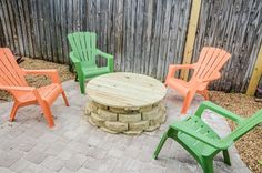Outdoor area for relaxing or dining