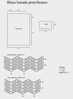 Simplesmente Um Arraso este Modelo de Blusa Zig Zag feita em Preto e Branco com a Linha Charme  da Circulo.   Amamos A Ideia de Desenvolve...