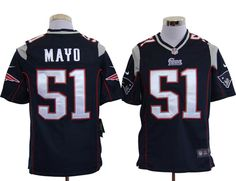 Men's NFL New England Patriots #51 Mayo Navy Blue Game Jersey