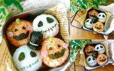 Te comparto una lista de platillos japoneses conocido como onigiri unas bolitas de arroz en forma de personajes.