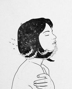 New beautiful art drawings feelings night ideas Illustration Art Dessin, Muhammed Salah, Toddler Art Projects, Art Drawings Beautiful, Pencil Art Drawings, Couple Art, Art Techniques, Love Art, Oeuvre D'art