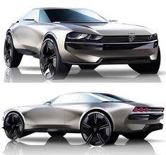 E Legend Concept jener neue 504 von Peugeot Volkswagen Karmann Ghia, Car Design Sketch, Car Sketch, Honda Civic, Peugeot Bike, Ford Gt, Ford Mustang, Bugatti, Maserati
