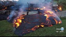 A slow-moving river of molten lava from Kilauea volcano on Hawaii's Big Island edges towards the village of Pahoa. Feng Shui, Hawaii News Now, Erupting Volcano, Hawaii Volcano, Weather Alerts, Lava Flow, Big Island Hawaii, National Guard, Beautiful Creatures