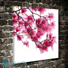 Pembe Açan Çiçekler  Tablo #çiçekli_kanvas_tablo