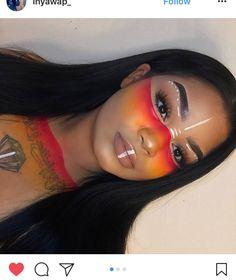 Native (With images) Makeup Inspo, Makeup Art, Makeup Inspiration, Beauty Makeup, Fairy Makeup, Mermaid Makeup, Maquillage Halloween, Halloween Makeup, Halloween Costumes