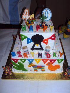 Cake at a Fiesta Party #fiesta #partycake
