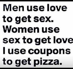 I use coupons to get pizza