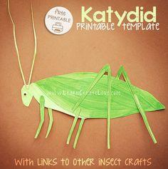Katydid Printable Craft