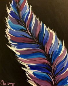 Love the inner spine of the feather and the lighter color making the feather look tifted... Is that a word?