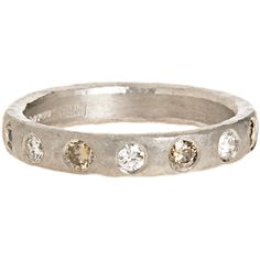 MALCOLM BETTS  White and Cognac Diamond Ring
