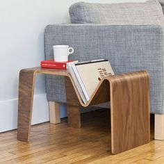 Cool Bent Wood Side Table