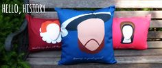 Hello History's Henry VIII 14x20 accent pillow.