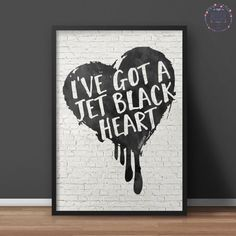 5SOS: Jet Black Heart // Poster  INSTANT DOWNLOAD by brissiedesign