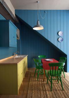 Green and Blue British Standard Kitchen