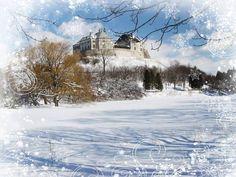 Замки України - в обіймах зими!  Ukrainian castle, palace...