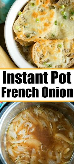 cooker french onion soup topped with french bread and cheese for you! Done in just 3 minutes in your Instant Pot.Pressure cooker french onion soup topped with french bread and cheese for you! Done in just 3 minutes in your Instant Pot. Best Instant Pot Recipe, Instant Pot Dinner Recipes, Recipes Dinner, Soup Appetizers, Appetizer Recipes, Easter Recipes, Easter Appetizers, Vegetarian Appetizers, Onion Soup Recipes